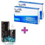 12 Μηνιαίοι Μαλακοί Φακοί Επαφής Soflens 59 (2 Πακέτα) + 1 Υγρό Cooper Vision All In One Light 360 ml