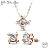 Σετ Κολιέ & Σκουλαρίκια Roxy της Her Jewellery σε Rose Gold Χρώμα - skroutz.com.cy