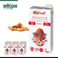 Βιολογικό Γάλα Αμυγδάλου, Ecomil 1L x 6 συσκευασίες - ecomil almond sugar free aitherio bio store cyprus - αιθέριο Bio Stores - etherio bio stores - skroutz.com.cy
