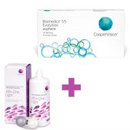 Biomedics 55 Evolution 6 μηνιαίοι φακοί επαφής + 1 Υγρό Cooper Vision All In One Light 360 ml - Skroutz.com.cy