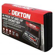 DEKTON DT85110 Drive Socket Set, Black/Red, 1/4-inch, 3/8-inch - skroutz.com.cy