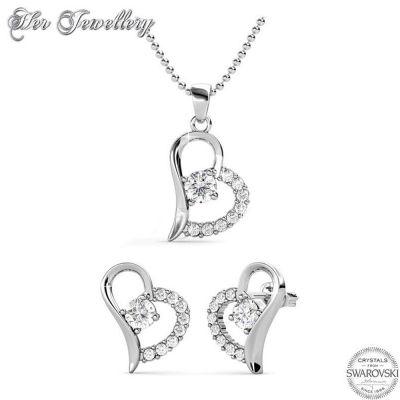 Κολιέ & Σκουλαρίκια Heart απο  Swarovski της Her Jewellery - skroutz.com.cy