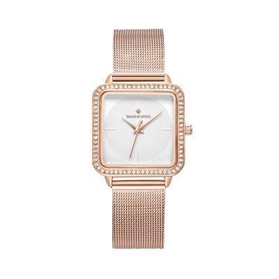 Γυναικείο Ρολόι Χρώματος Ροζ - Χρυσό με Μεταλλικό Μπρασελέ και Κρύσταλλα Swarovski® Timothy Stone Quartet Collection Q-011-ALRG - skroutz.com.cy