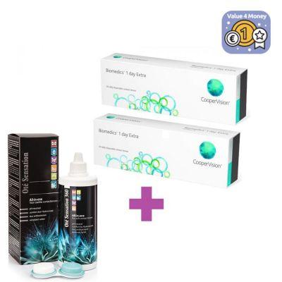 60 Ημερήσιοι Φακοί Επαφής Biomedics 55 Evolution 1 day extra + 1 Υγρό Διάλυμα Φακών Επαφής 360ml - skroutz.com.cy