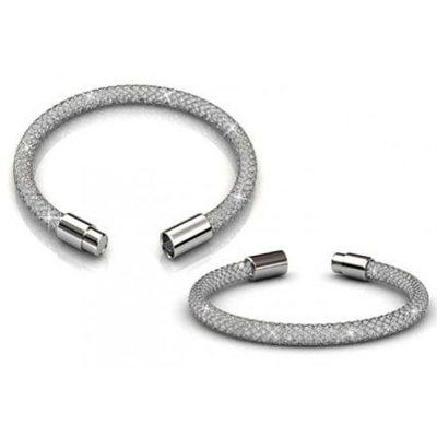 Βραχιόλι Her Jewellery Mesh Bracelet με Swarovski Elements - Ασημί