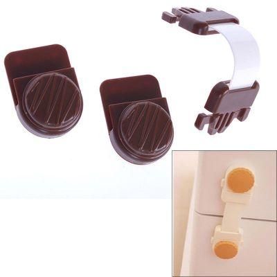 Προστατευτικό άγγιστρο - ασφάλεια ντουλαπιών για παιδιά - Καφέ 34795