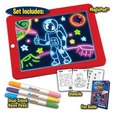 3D Magic Sketchpad, Φορητός Πίνακας Ζωγραφικής Glow Drawing Pad για παιδιά 3 έγχρωμες πένες - skroutz.com.cy