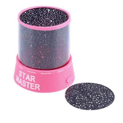 Φωτιστικό Δωματίου με projector σε σχέδια έναστρου ουρανού - Star Master Projector - Ροζ - 51229