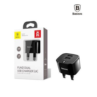 Διπλός USB Φορτιστής Baseus Funzi Dual USB Charger (UK) 2.4A (CCALL-FZ01) - skroutz.com.cy