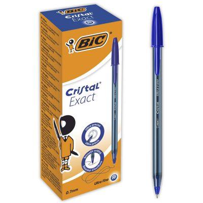 20 x Bic Cristal Exact Ultra Fine Ballpoint Pens 0,7mm Blue B-992605 - skroutz.com.cy