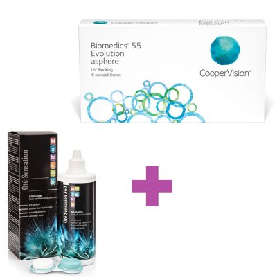 Biomedics 55 Evolution 6 μηνιαίοι φακοί επαφής + 1 Υγρό All In One 360 ml - Skroutz.com.cy - contact lenses cyprus