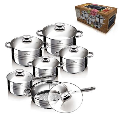 Σετ κατσαρόλες από ανοξείδωτο ατσάλι 12 τμχ, Blaumann BL-1031 Gourmet Line - skroutz.com.cy