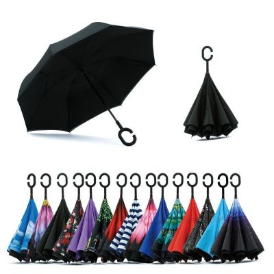 C Handle Windproof Reverse Folding Umbrella - skroutz.com.cy