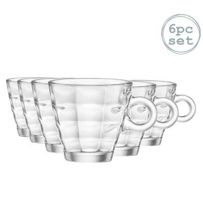 Bormioli Rocco Cube Espresso Coffee Glasses 100ml Set Of 6 - skroutz.com.cy