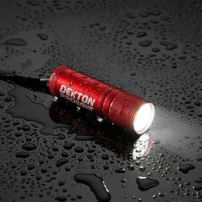 Dekton DT50558 Pro Light Xf35 Tracker Flashlight Waterproof 35 Lumen LED Torch - Color Red