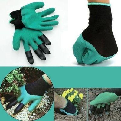 """Γάντια κηπουρικής με """"νύχια"""" για σκάψιμο - Garden Genie Gloves - 48840 - Skroutz.com.cy"""