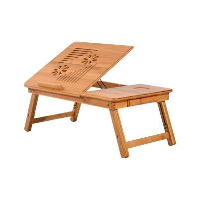 Ξύλινο Βοηθητικό Πτυσσόμενο Τραπέζι Πολλαπλών Χρήσεων με Βάση για Laptop HOMCOM 923-002 - Skroutz.com.cy
