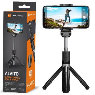 Natec ALVITO Wireless Selfie Stick - Τριπόδι Bluetooth 4.0