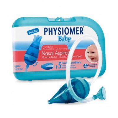 Physiomer Baby Nasal Aspirator Extra Soft, Ρινικός Αποφρακτήρας για Βρέφη, 1 τεμάχιο