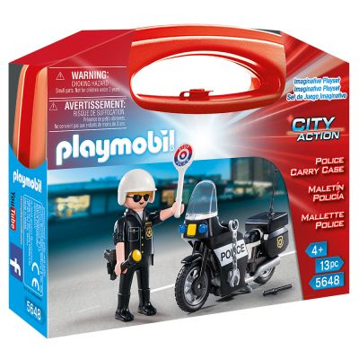 PLAYMOBIL Βαλιτσάκι Αστυνόμος με μοτοσικλέτα 5648 - skroutz.com.cy