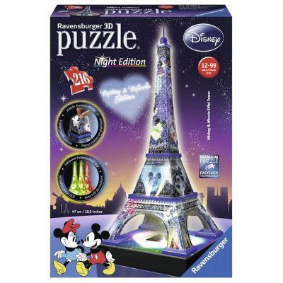 Ravensburger 12520 Πάζλ 3D 216Τεμ Πύργος του Άιφελ Disney Night Edition - 1125802