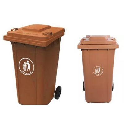 RECYCLE PLASTIC DUSTBIN BROWN 120L - GT120AB - skroutz.com.cy