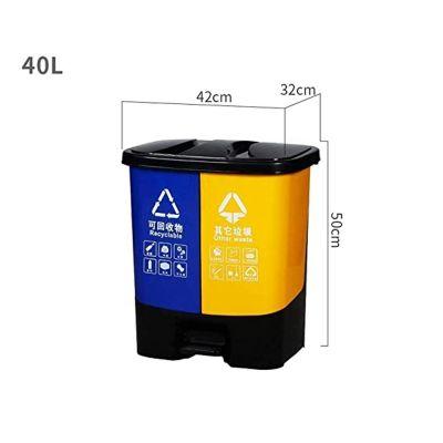 Πλαστικός Κάδος Απορριμμάτων 40L – Κίτρινο & Μπλέ - skroutz.com.cy