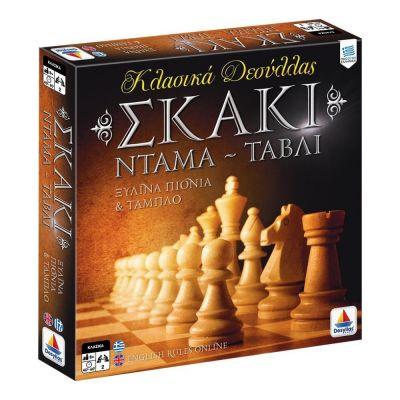 Επιτραπέζιο Σκάκι-Ντάμα-Τάβλι DES 100735 - 11051055 - skroutz.com.cy
