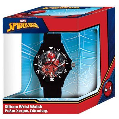 Ρολόι Χειρός Παιδικό Spiderman  Με Αναλογικό Μηχανισμό Σε Κουτί Δώρου 000500932 - spiderman silicon wrist watch - skroutz.com.cy