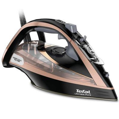 TEFAL Ultimate Pure Steam Iron, 3100 Watts Black, Plastic/Durilium, FV9845M0 - skroutz.com.cy