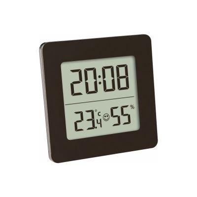 Επιτραπέζιο ηλεκτρονικό Θερμόμετρο/Υγρόμετρο από την TFA Γερμανίας, με ενσωματωμένο Ρολόι-Ξυπνητήρι - skroutz.com.cy
