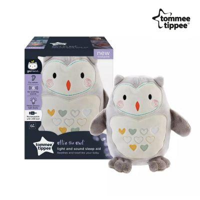 Tommee Tippee Grofriend Βελούδινο Φωτιστικό Επαναφορτιζόμενο Ollie the Owl Η Κουκουβάγια Ζωάκι Συντροφιάς - skroutz.com.cy