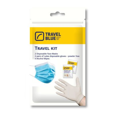 Travel Kit Μάσκες - Γάντια - Αντισηπτικά Μαντηλάκια
