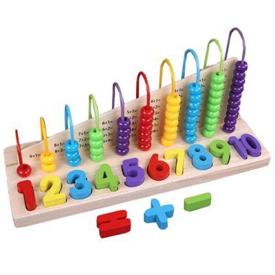 Ξύλινο Παιχνίδι Μαθαίνω Χρώματα & Αριθμούς - Triple Play Calculating Toy 565987 - 11051232