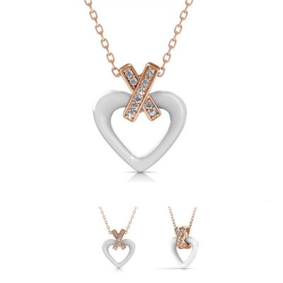 Κεραμικό Κολιέ-Καρδιά της Her Jewellery - Άσπρο - Skroutz.com.cy