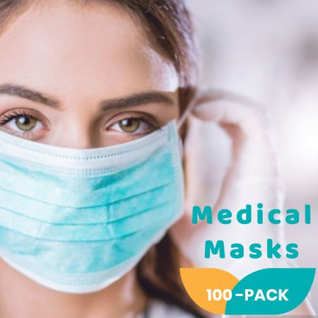 Μάσκες Προσώπου Μίας Χρήσης 3 Στρωμάτων 50 τμχ με Δείκτη BFE>98% - skroutz.com.cy