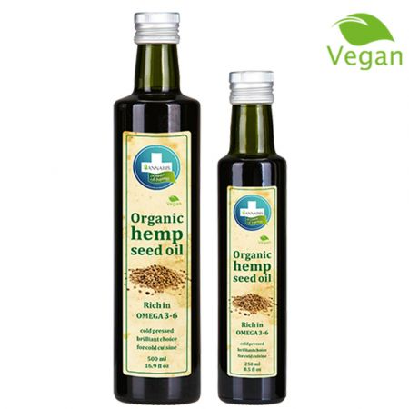 Annabis Hemp Seed Oil, βρώσιμο, βιολογικό, vegan λάδι, 250ml