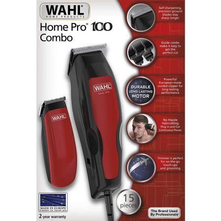 WAHL Σετ Κουρευτική Μηχανή Ρεύματος & Τριμμερ Μπαταρίας Home Pro 100 Combo - skroutz.com.cy