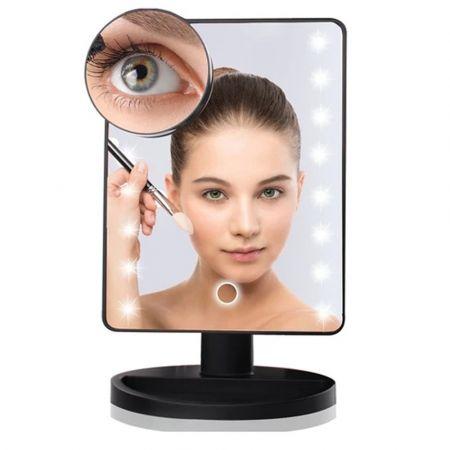 Μακιγιάζ Καθρέφτης με 16 Λαμπάκια LED  - Λευκό 16 Light LED Makeup Mirror - White