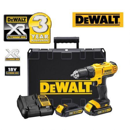 DeWALT 18V XR Li-Ion Κόμπακτ Κρουστικό Δραπανοκατσάβιδο 1.3AH  - DCD776C2-QW