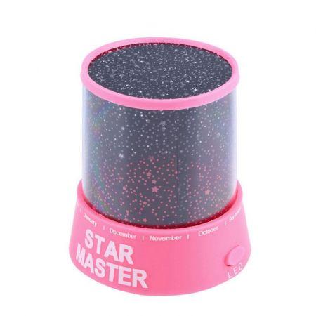 Φωτιστικό Δωματίου με projector σε σχέδια έναστρου ουρανού - Star Master Projector - Ροζ - Skroutz.com.cy