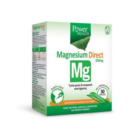 Power Health Magnesium Direct Συμπλήρωμα με Μαγνήσιο για την Υγεία Μυών & Νευρικού Συστήματος 350mg, 30 φακελάκια - skroutz.com.cy