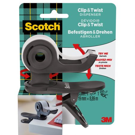 3M Scotch Clip & Twist Dispenser for 19mm Tape 3M-C19-CLIP-CG