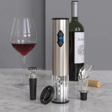 Σετ Ανοίγματος Κρασιού 4 Τεμαχίων με Μπαταρία  - 4 Piece Battery Operated Electric Wine Opening Set - skroutz.com.cy