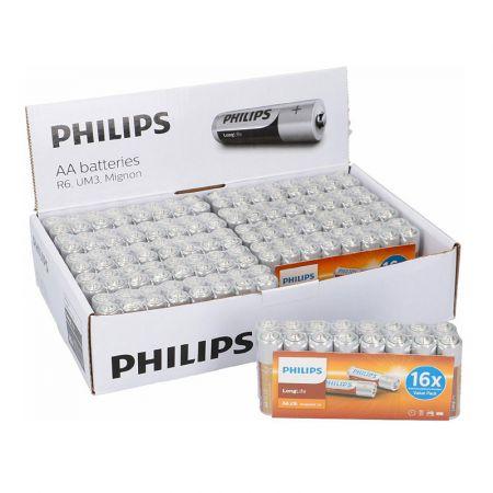 Σετ Μπαταρίες ΑΑ R6 Zinc LongLife 1.5 V 16 τμχ Philips 809-5903384122 - skroutz.com.cy