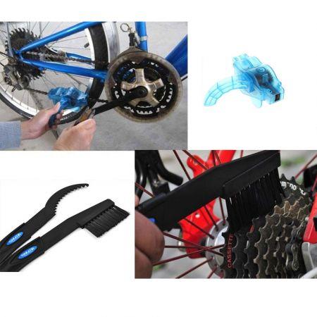 Εργαλείο Καθαρισμού Αλυσίδας-2 Βούρτσες- Κάλυμμα Ποδηλάτου