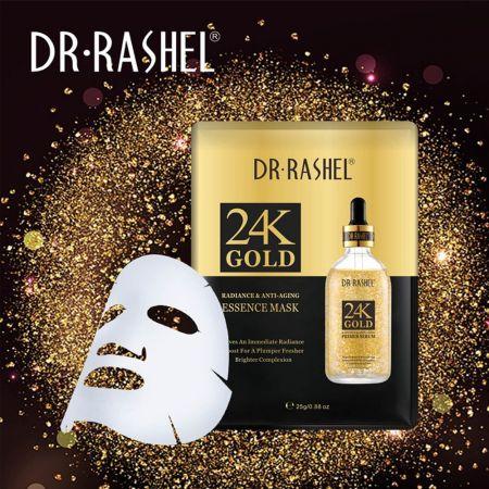 5 Pack DR. RASHEL Face Masks 25K Gold - Radiance & Anti Aging Essence