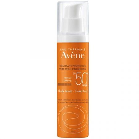 Avene Solaire Fluide SPF50+ Teintee, Αντηλιακή Κρέμα Προσώπου με Χρώμα Λεπτόρρευστη, 50ml - skroutz.com.cy