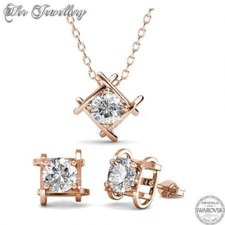 Σετ Κολιέ & Σκουλαρίκια Roxy της Her Jewellery σε Rose Gold Χρώμα