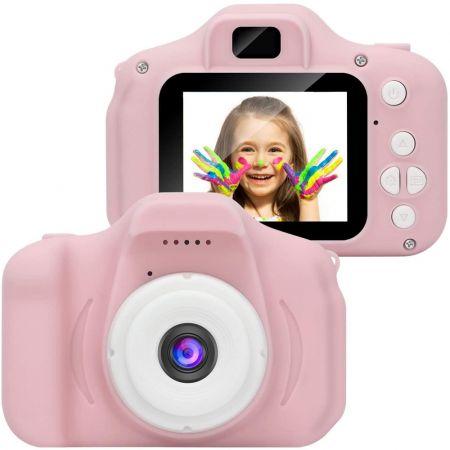HD Ροζ Μίνι Ψηφιακή Παιδική Φωτογραφική Μηχανή / Κάμερα - Επαναφορτιζόμενη USB Kids Camera Toy για Παιδιά - Skroutz.com.cy